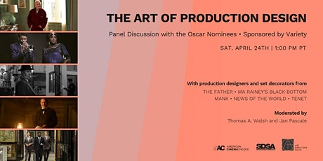Oscar-Nominated Production Design Panel 2021 tickets