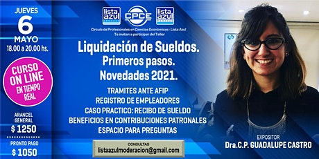LIQUIDACION DE SUELDOS - PRIMEROS PASOS  - NOVEDADES 2021 entradas