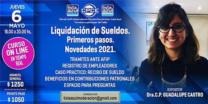 Imagen de LIQUIDACION DE SUELDOS - PRIMEROS PASOS  - NOVEDADES 2021