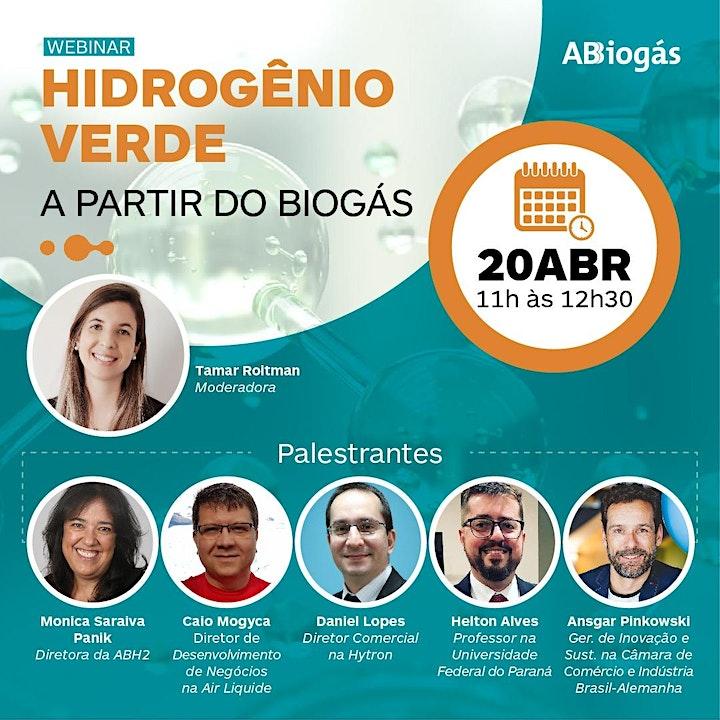 Imagem do evento Webinar - Hidrogênio Verde a partir de Biogás