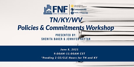 TN/KY/WV Policies/Commitments Webinar tickets