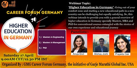 Higher Education in Germany, Organized by GMG Career Forum Germany tickets