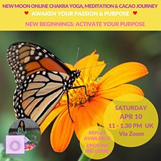 Chakra Yoga Meditation Cacao Online Journey- Awaken your Passion & Purpose tickets
