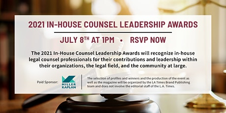 2021 In-House Counsel Leadership Awards Tickets