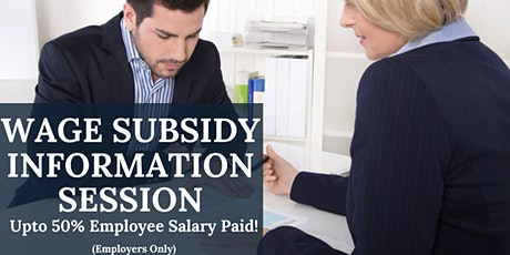 Wage Subsidy Information Session For Employers tickets