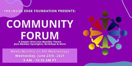 Community Forum   The Inside Edge tickets