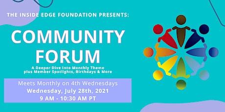 Community Forum | The Inside Edge tickets