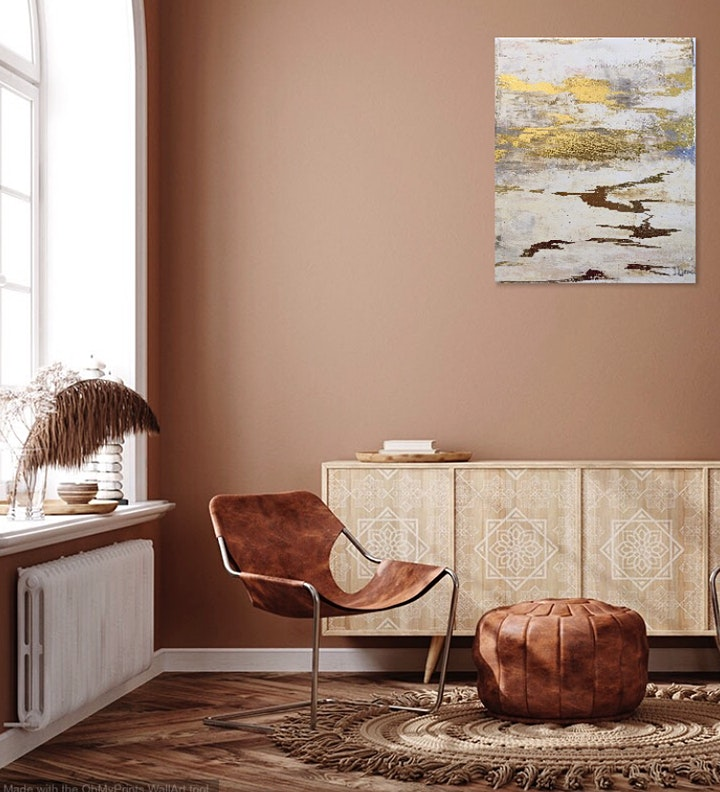 Paint a Golden Sunset Sipping Wine! Stylish Interior Painting. Leeds. image