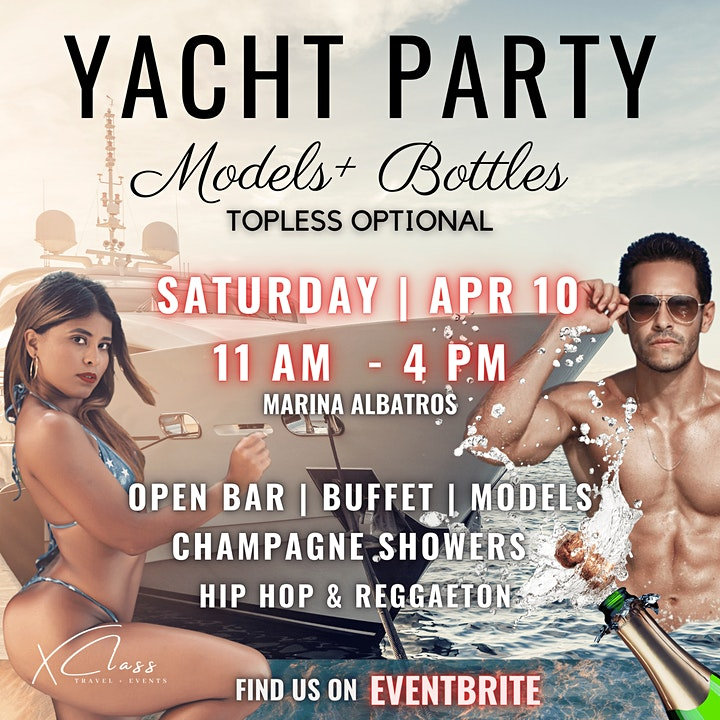 Models + Bottles | Adults Only | Yacht Party image