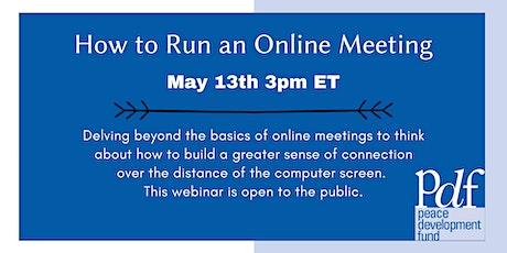 How to Run an Online Meeting tickets