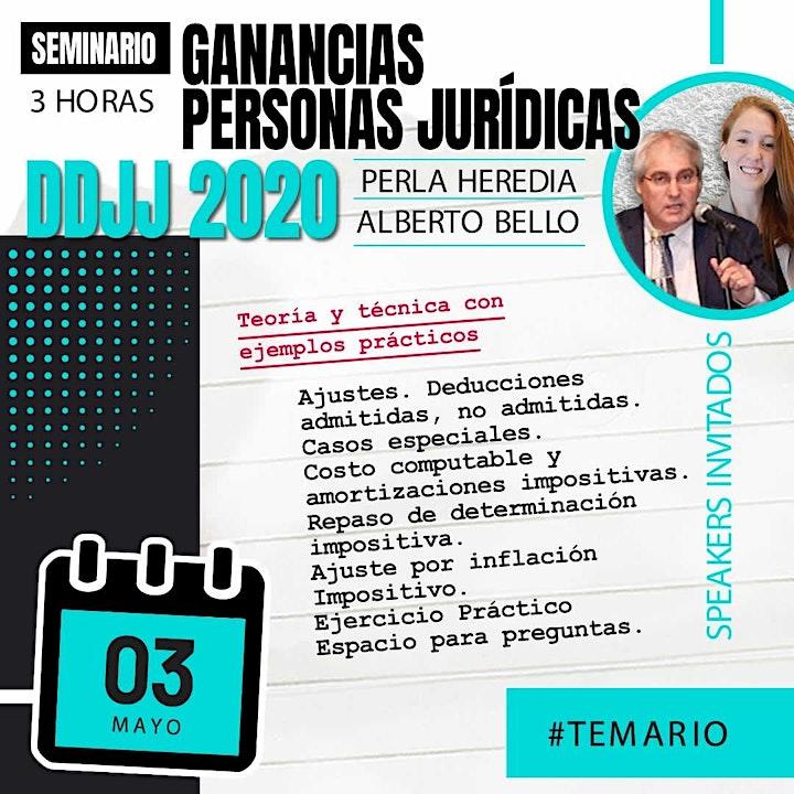 """Imagen de Grabación """"Seminario 3 hs GANANCIAS PERSONAS JURÍDICAS – DDJJ 2020"""""""