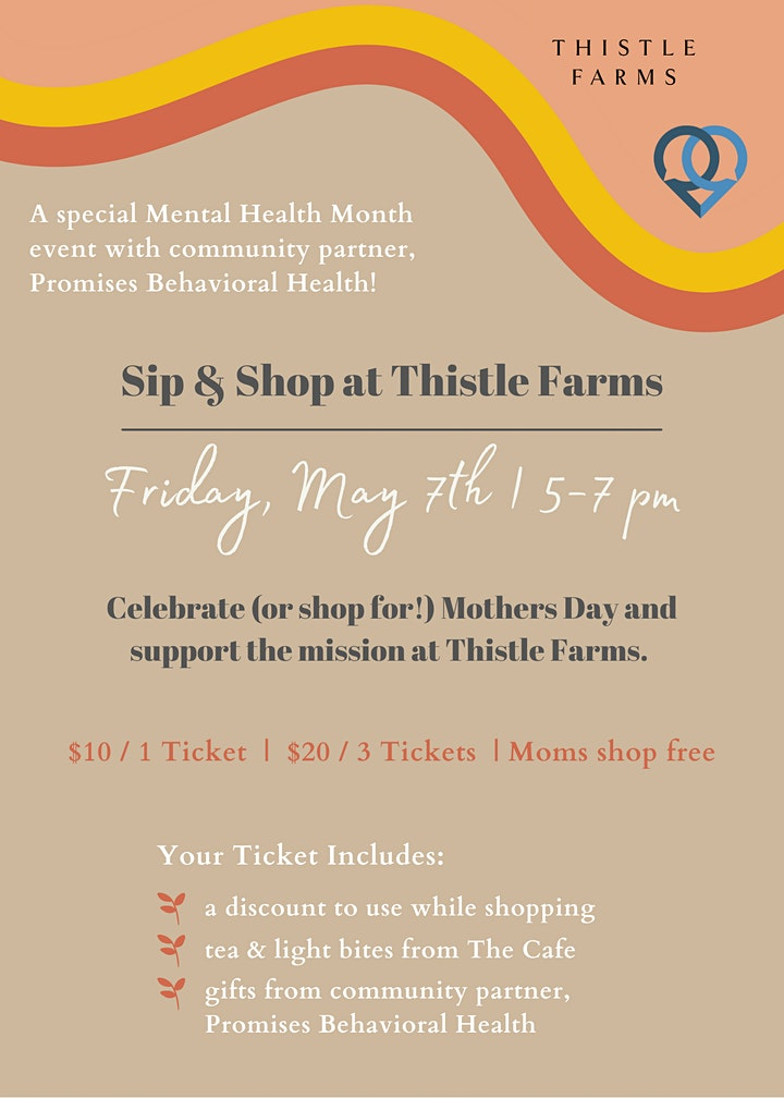 Sip & Shop with Thistle Farms image