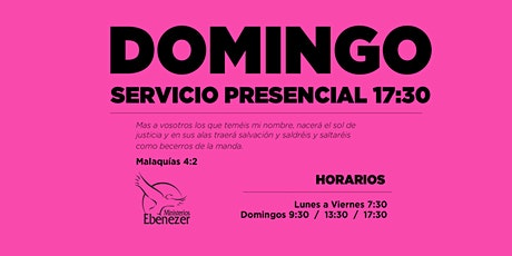 DOMINGO 18 ABRIL / 17:30 entradas