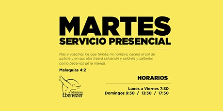 MARTES 20 ABRIL / 19:30 entradas
