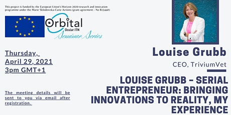 Louise Grubb: Bringing innovations to reality, my experience tickets