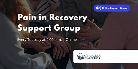Pain in Recovery Support Group tickets