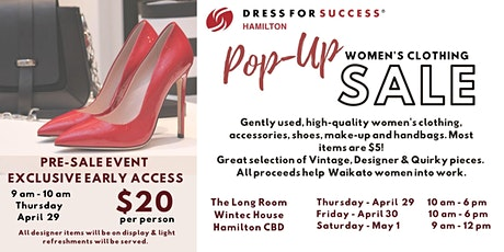Dress for Success Hamilton Women's Clothing Pop-Up Sale tickets