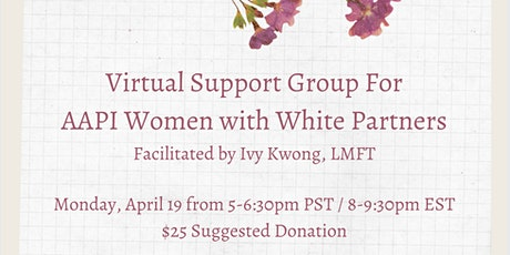 Support Group For AAPI Women with White Partners (Zoom) tickets