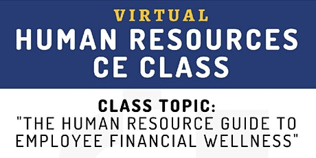 HUMAN RESOURCES CE CLASS tickets