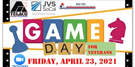 Military Veterans GAME DAY, BINGO, with TELACU Veterans Upward Bound tickets