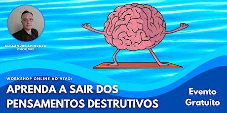 Workshop Online ao Vivo: Aprenda a Sair dos Pensamentos Destrutivos bilhetes