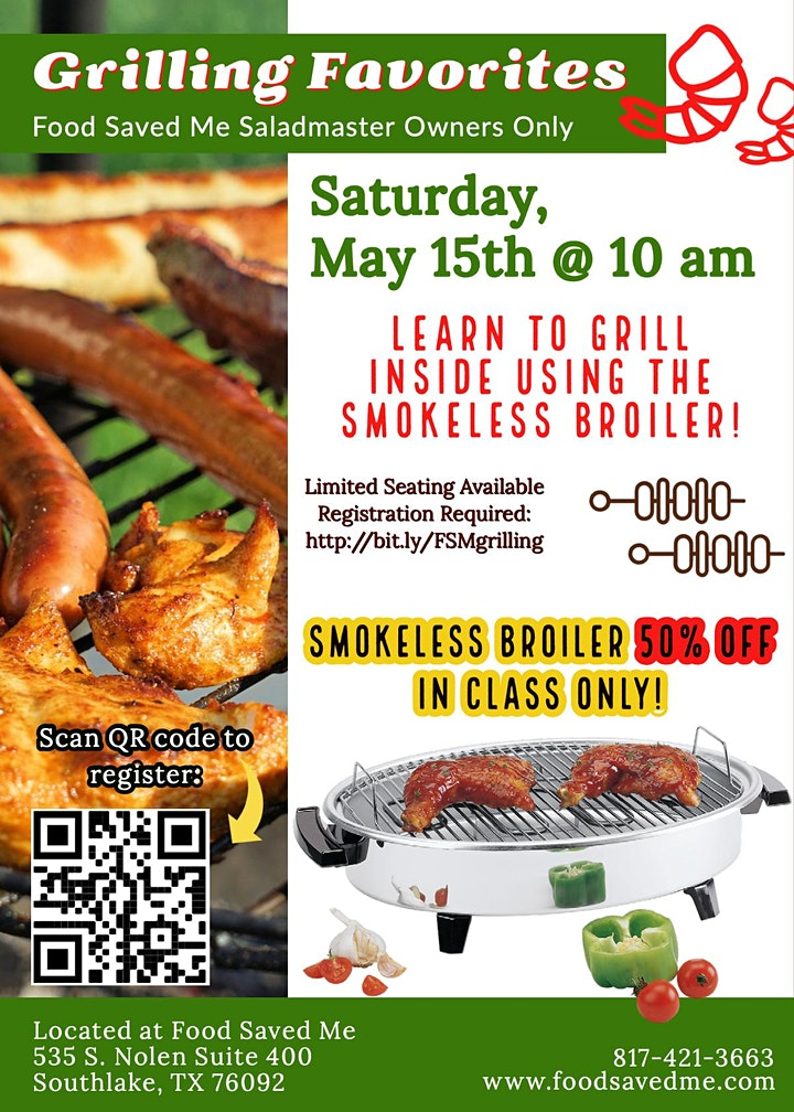Saladmaster Owners ONLY: Grilling Class image