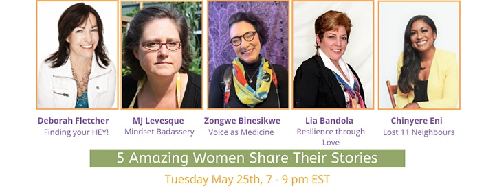 Spoken Lives Online – 5 Women Share their Stories: Tuesday, May 25th image