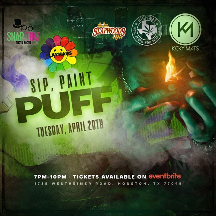 420 Sip, Paint and Puff at Playhaus w/ Kicky Mats image