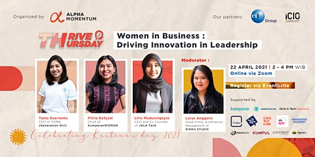 Thrive Thursday : Women in Business - Driving innovation in Leadership tickets
