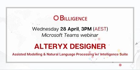 Natural Language Processing with Alteryx Designer Intelligence Suite biglietti