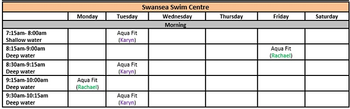 Swansea Swim Centre- AQUA FITNESS Bookings image