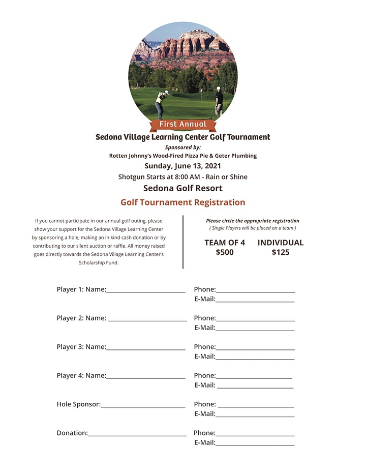 Golf Tournament & Dinner: A Benefit for the Sedona Village Learning Center image