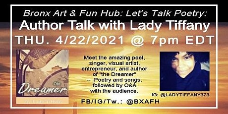 Let's Talk Poetry: Author Talk with Lady Tiffany tickets