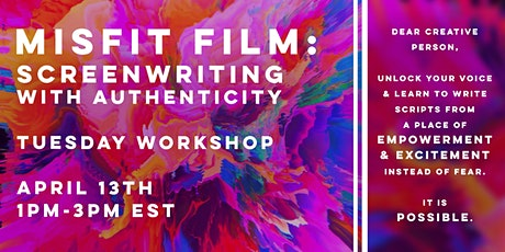 Misfit Film: Screenwriting with Authenticity tickets