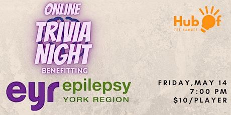 Online Trivia Night for Epilepsy York Region tickets