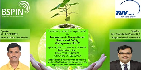 Environment, Occupational Health and Safety Management for IT  Industry tickets