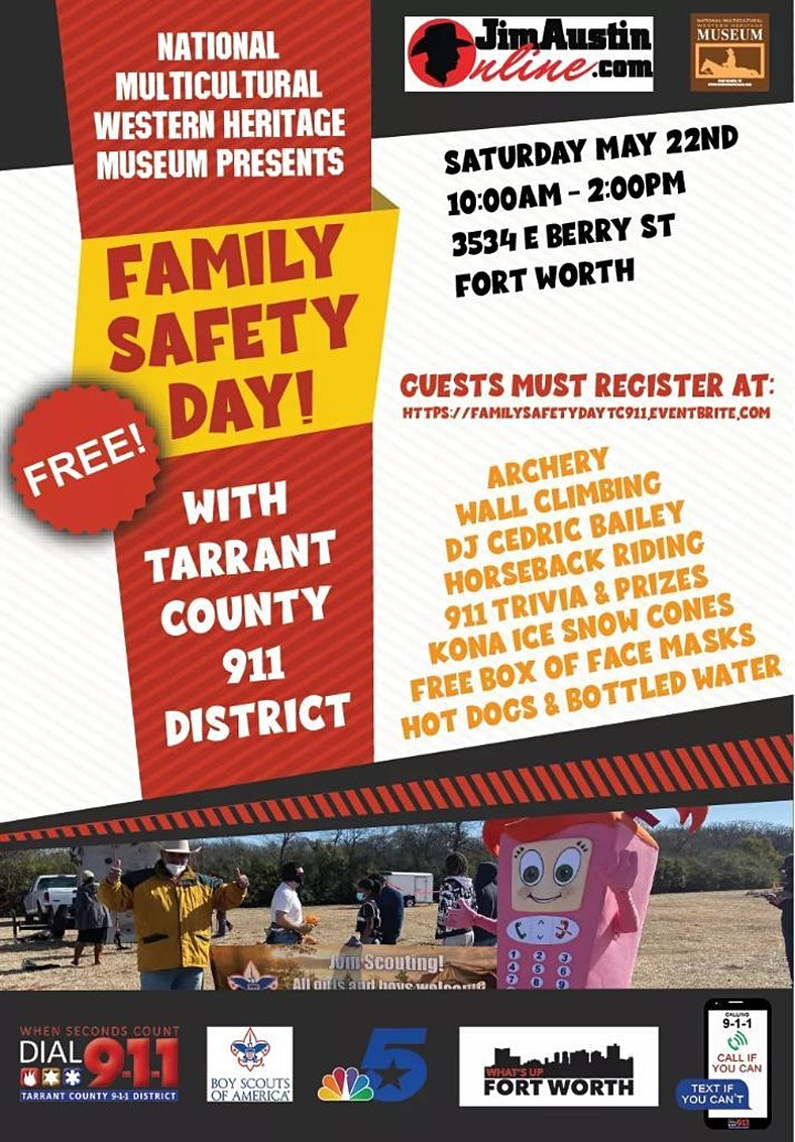 FAMILY SAFETY DAY WITH TARRANT COUNTY 911 DISTRICT image