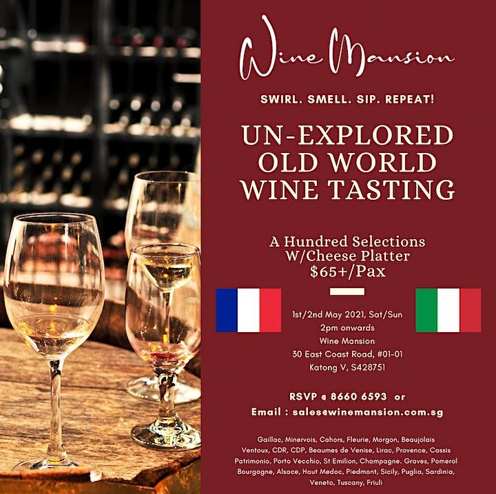 Un-Explored Old World Wine Tasting image