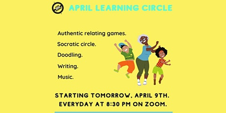 April Learning Circle by StopBeingBoring || Doodling||AR Games|| Writing tickets
