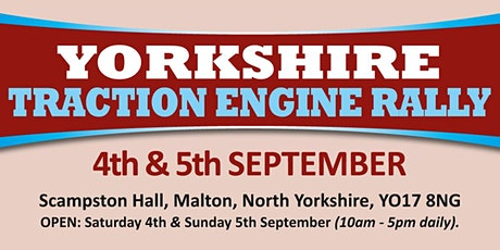 Yorkshire Traction Engine Rally 2021 - Trading Space tickets