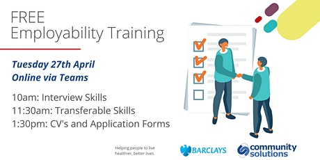 Free Employability Training: Interview Skills tickets