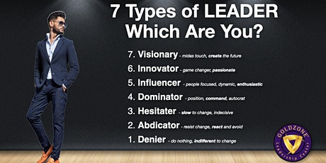 7 Types of Leader FREE 2-Hour Seminar-0519 tickets