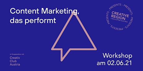 WORKSHOP: CONTENT MARKETING, DAS PERFORMT tickets