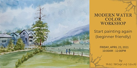 MODERN WATERCOLOR WORKSHOP (for adults) tickets