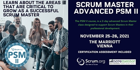 Professional Scrum Master Advanced (PSM II) Tickets