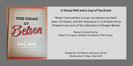 Virtual PhD and a Cup of Tea:  Jews, Christians, and the Holocaust tickets