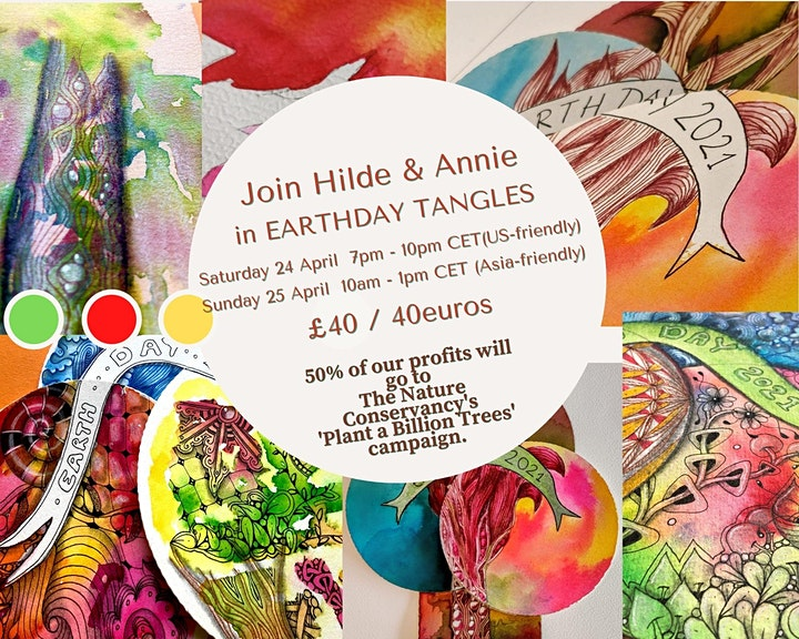 Afbeelding van Earth Day Tangles  Zentangle 2021 (Asia Friendly Time)