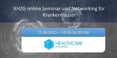 KHZG  online Seminar und Networking für Krankenhäuser Tickets