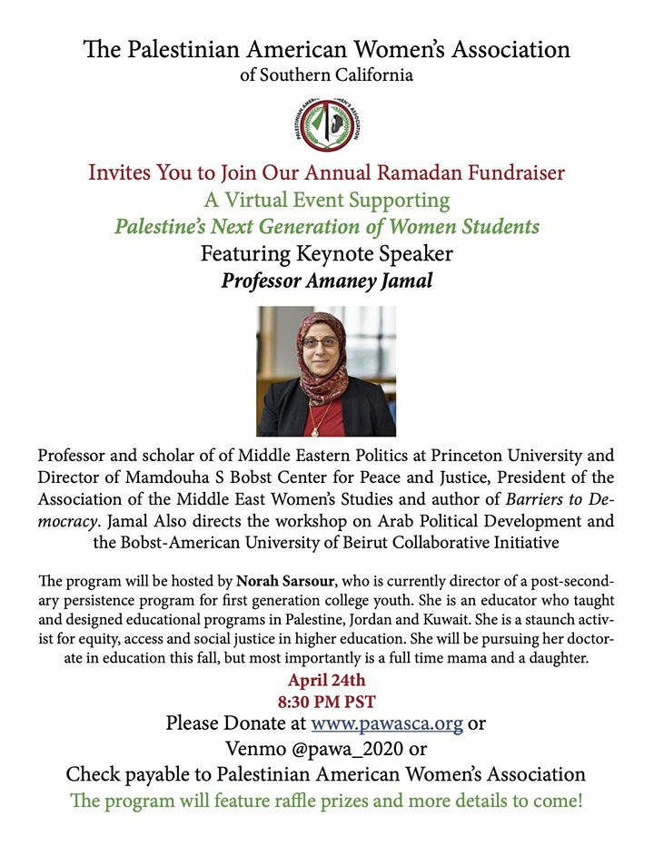 PAWA's Ramadan Virtual Fundraising Event image