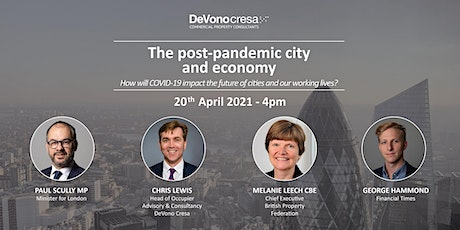 The post-pandemic city and economy tickets